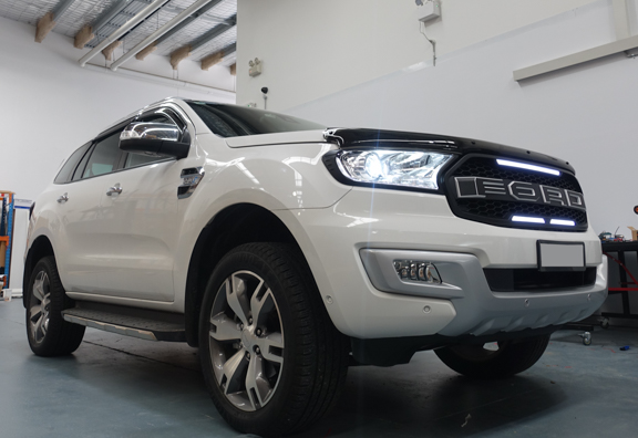 Black Headlight & Tail Light Trims to suit Ford Everest