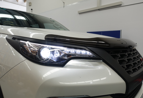 Black Headlight & Tail Light Trims to suit Toyota Fortuner